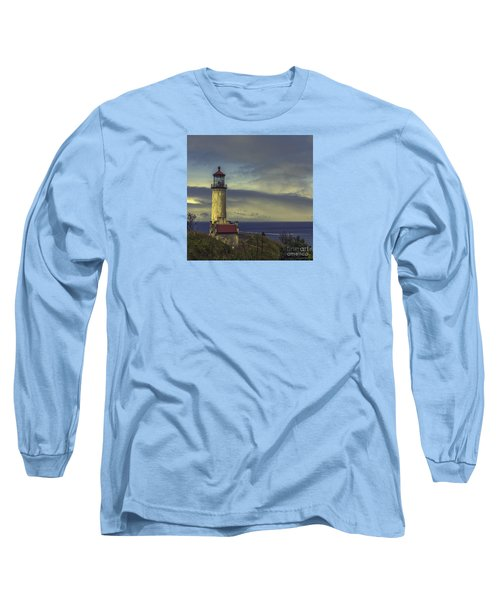 North Head Lighthouse Long Sleeve T-Shirt by Jean OKeeffe Macro Abundance Art