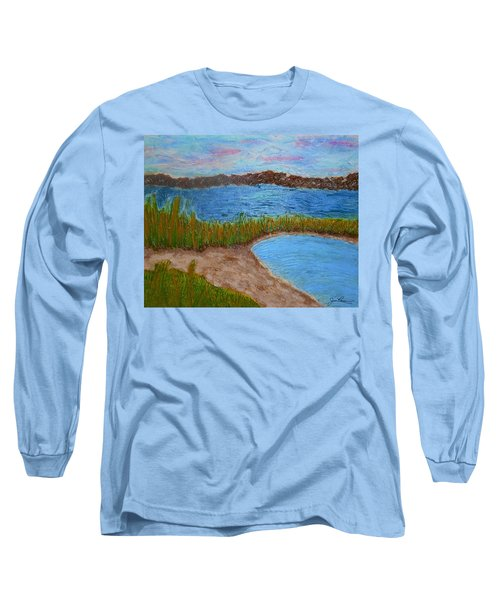 Long Sleeve T-Shirt featuring the painting North Wildwood   New Jersey by Joan Reese