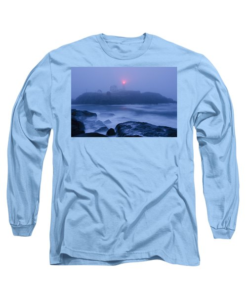 Nubble Light In Foggy Dawn Long Sleeve T-Shirt