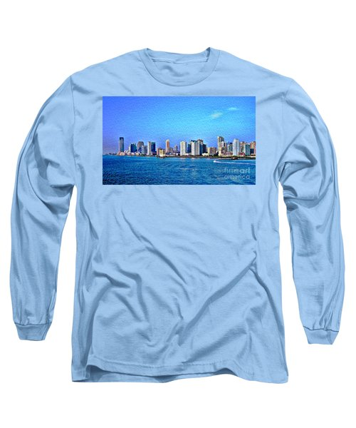 Long Sleeve T-Shirt featuring the photograph Nyc  The Big Apple  by Judy Palkimas