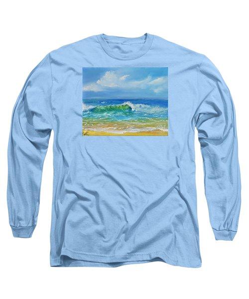 Oceanscape Long Sleeve T-Shirt by Teresa Wegrzyn
