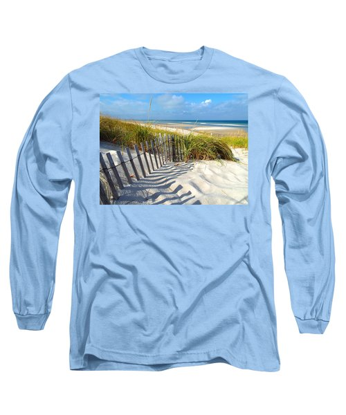 Long Sleeve T-Shirt featuring the photograph October Beach by Dianne Cowen