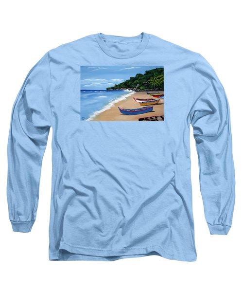 Olas De Crashboat Long Sleeve T-Shirt by Luis F Rodriguez