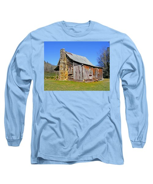 Old Cabin Along Macedonia Church Road Long Sleeve T-Shirt