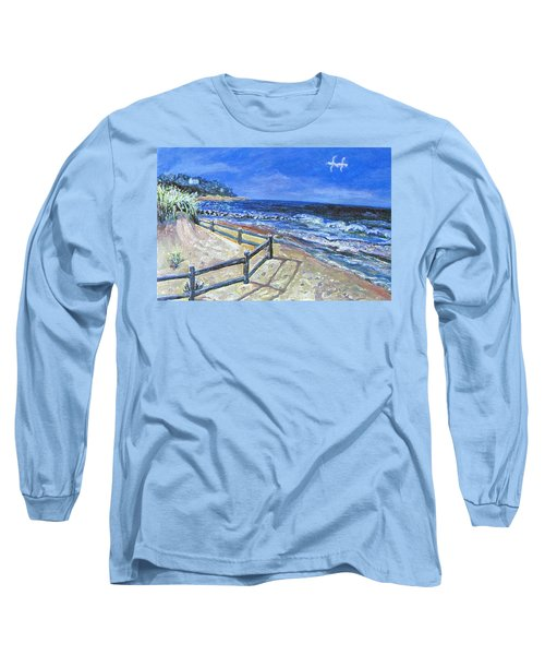 Old Silver Beach Long Sleeve T-Shirt by Rita Brown