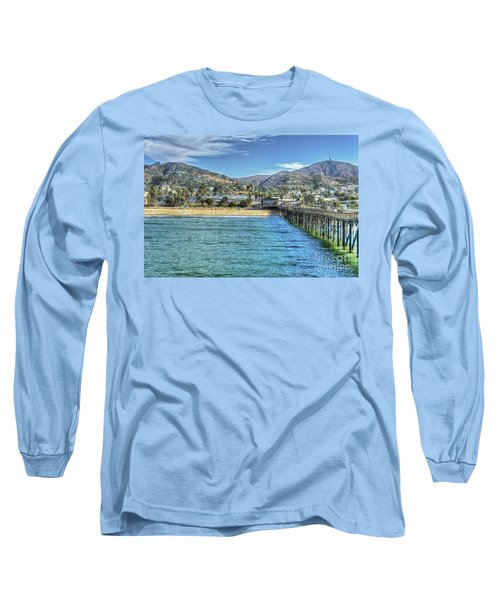 Old Ventura City From The Pier Long Sleeve T-Shirt
