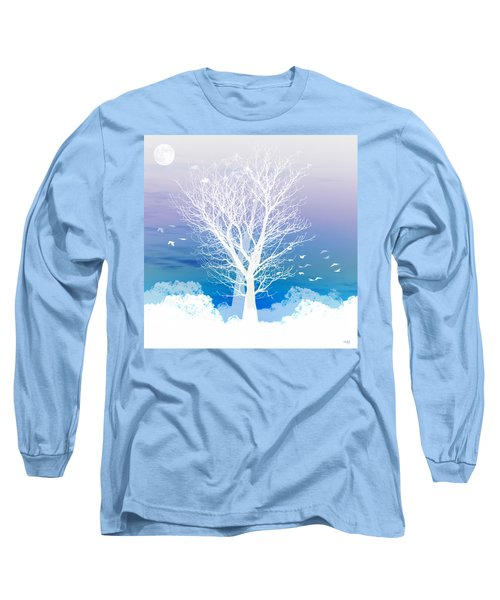 Long Sleeve T-Shirt featuring the photograph Once Upon A Moon Lit Night... by Holly Kempe