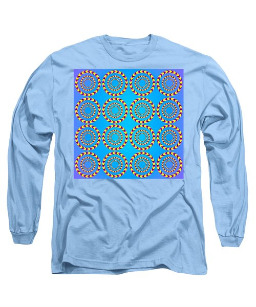 Optical Illusion Spinning Wheels Long Sleeve T-Shirt