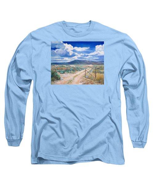 Osceola Nevada Ghost Town Long Sleeve T-Shirt by Donna Tucker