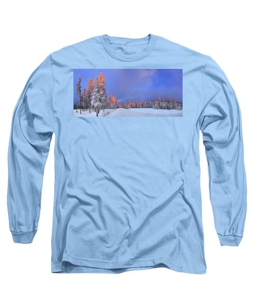 Other Side Of A Winter Sunset Long Sleeve T-Shirt