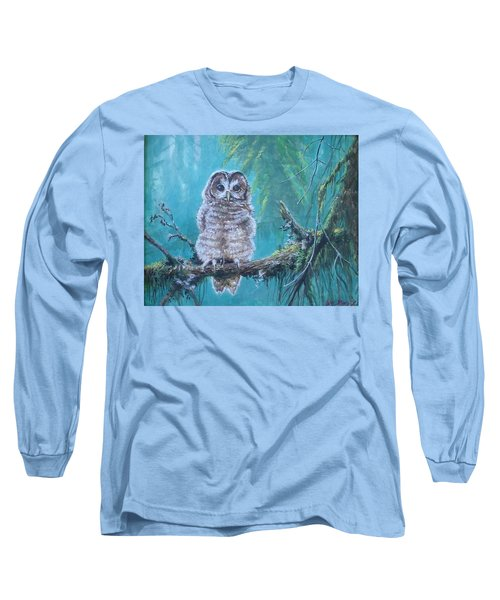 Owl In The Woods Long Sleeve T-Shirt