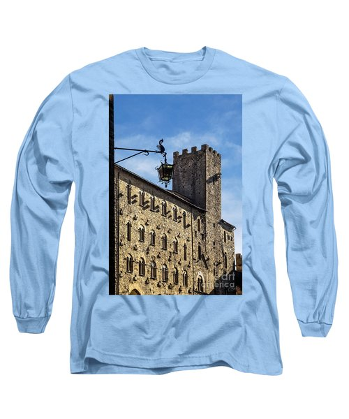Palazzo Pretorio And The Tower Of Little Pig Long Sleeve T-Shirt