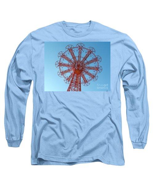 Long Sleeve T-Shirt featuring the photograph Parachute Jump-coney Island by Ed Weidman