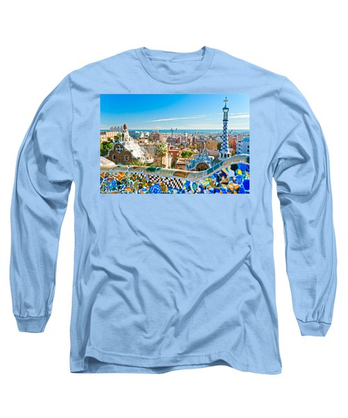 Park Guell - Barcelona Long Sleeve T-Shirt by Luciano Mortula