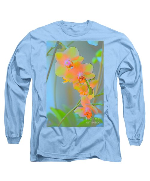 Pastel Orchids Long Sleeve T-Shirt