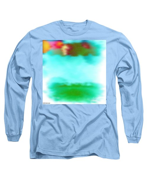 Long Sleeve T-Shirt featuring the digital art Peaceful Noise by Anita Lewis