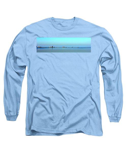 Peaceful Pensacola Beach Long Sleeve T-Shirt by Faith Williams