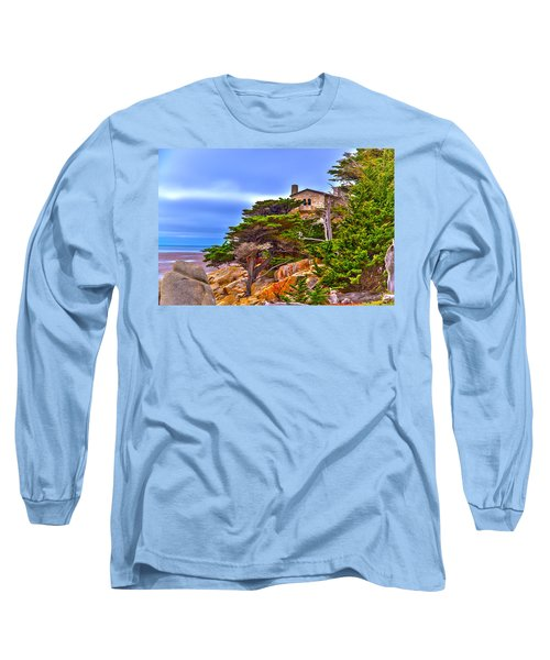 Pebble Beach Ca Long Sleeve T-Shirt by Richard J Cassato