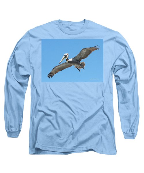 Long Sleeve T-Shirt featuring the photograph Pelican Landing On  Pier by Tom Janca
