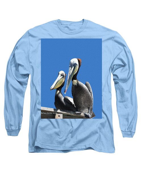Long Sleeve T-Shirt featuring the photograph Pelican Pair by Tom Janca