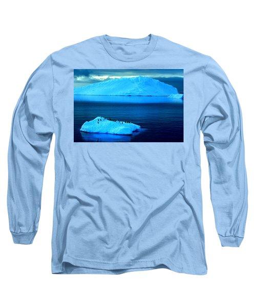 Penguins On Iceberg Long Sleeve T-Shirt by Amanda Stadther