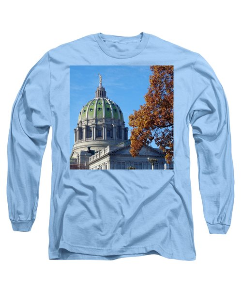 Pennsylvania Capitol Building Long Sleeve T-Shirt by Joseph Skompski