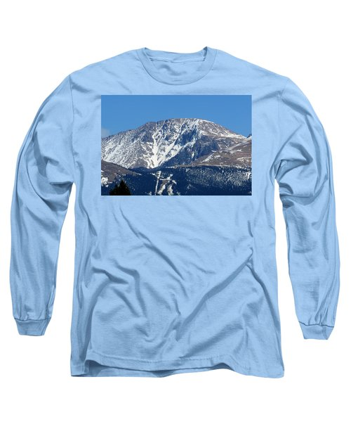 Pikes Peak Close-up Long Sleeve T-Shirt