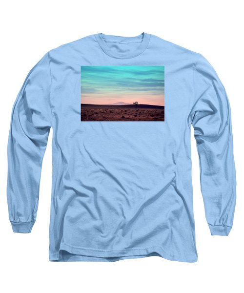 Pikes Peak To Prairie Long Sleeve T-Shirt by Clarice  Lakota
