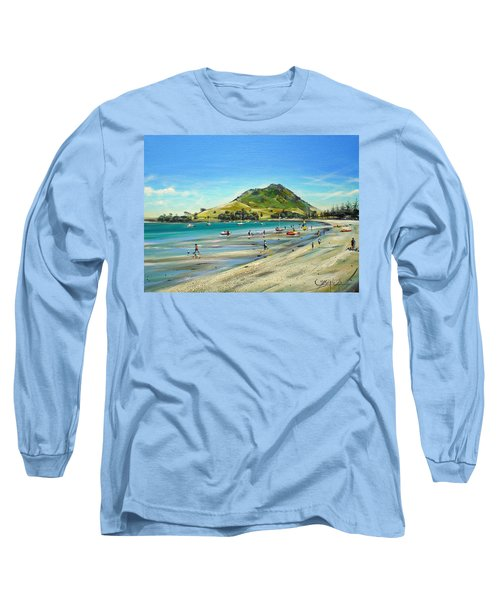Pilot Bay Mt M 050110 Long Sleeve T-Shirt by Sylvia Kula
