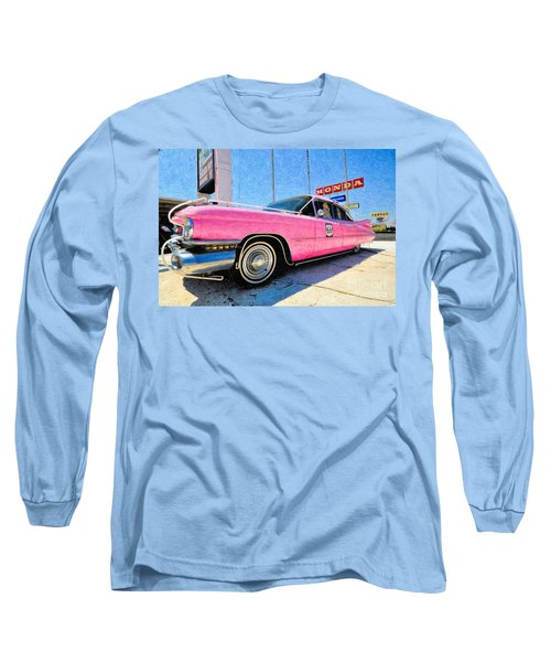 Pink Cadillac Long Sleeve T-Shirt by Liane Wright