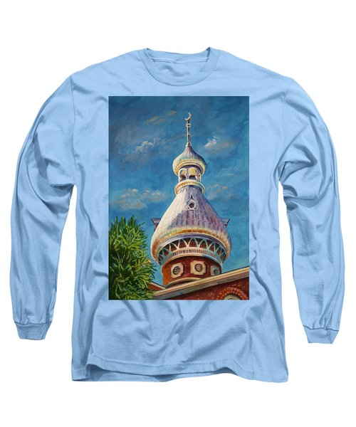 Play Of Light - University Of Tampa Long Sleeve T-Shirt by Roxanne Tobaison