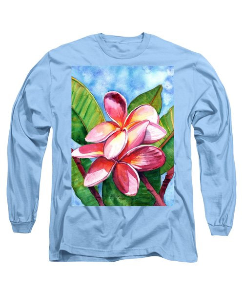 Playful Plumeria Long Sleeve T-Shirt