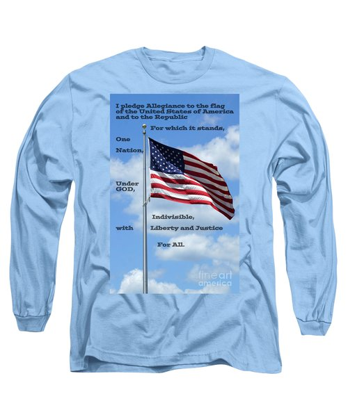 Pledge Of Allegiance Long Sleeve T-Shirt