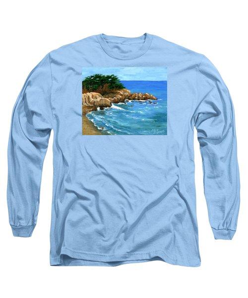 Point Lobos Coast Long Sleeve T-Shirt by Alice Leggett