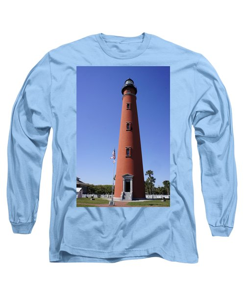 Long Sleeve T-Shirt featuring the photograph Ponce Inlet Lighthouse by Laurie Perry