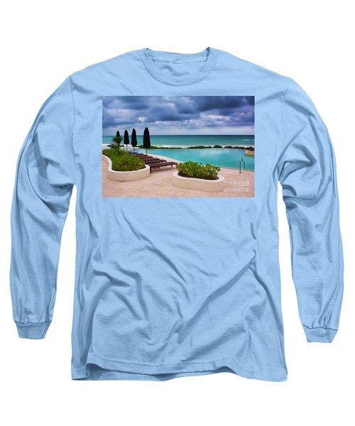 Long Sleeve T-Shirt featuring the photograph Pool At Rosewood Mayakoba by Teresa Zieba