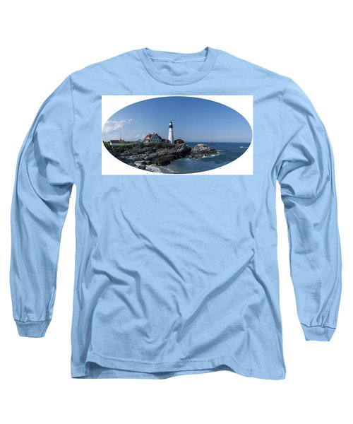 Long Sleeve T-Shirt featuring the photograph Portland Head Light House by Daniel Hebard