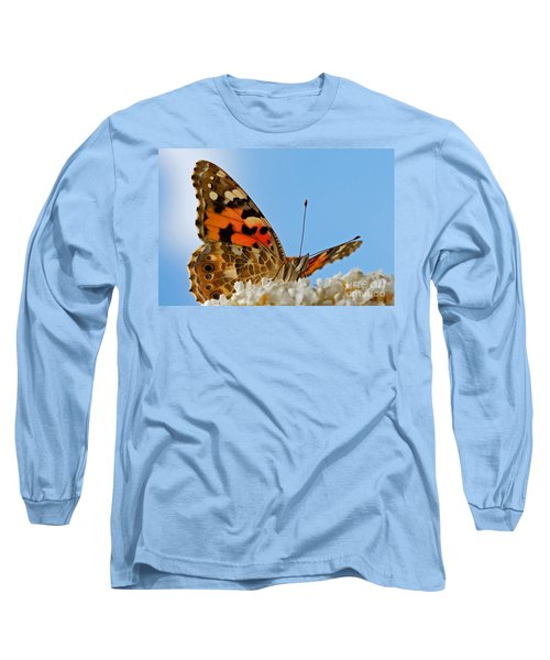 Portrait Of A Butterfly Long Sleeve T-Shirt