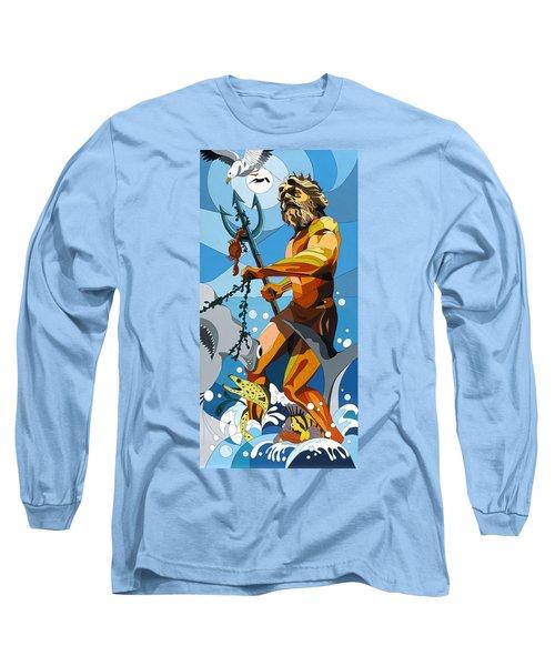 Poseidon - W/hidden Pictures Long Sleeve T-Shirt