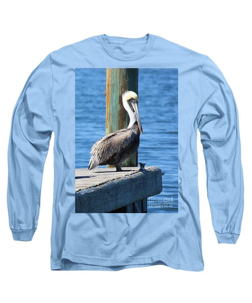 Posing Pelican Long Sleeve T-Shirt