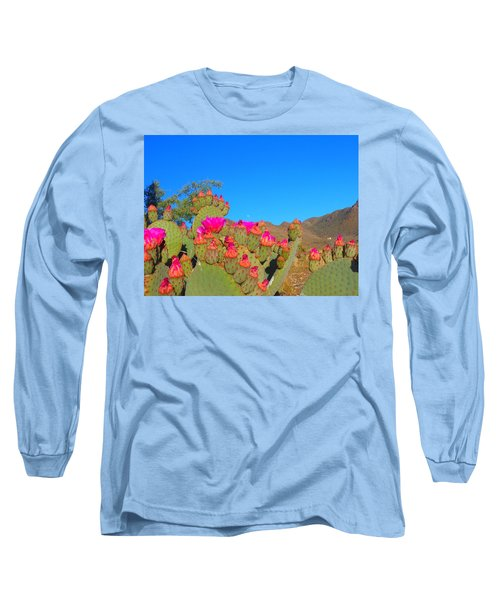 Prickly Pear Blooming Long Sleeve T-Shirt