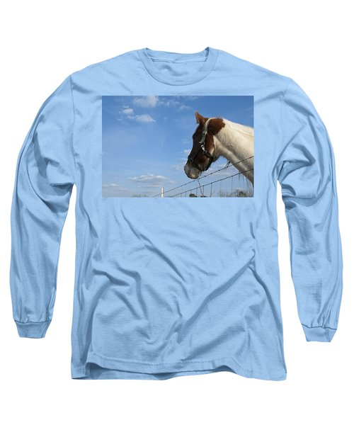 Long Sleeve T-Shirt featuring the photograph Profile Of A Horse by Charles Beeler