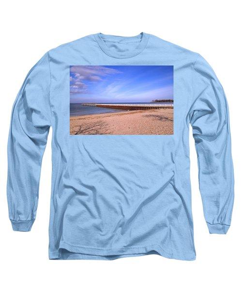 Prybil Beach Pier Long Sleeve T-Shirt