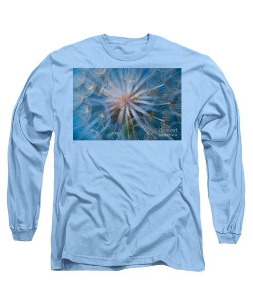 Long Sleeve T-Shirt featuring the photograph Puff-ball In Blue by Jaroslaw Blaminsky