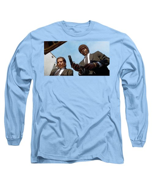 Long Sleeve T-Shirt featuring the painting Pulp Fiction Artwork 1 by Sheraz A