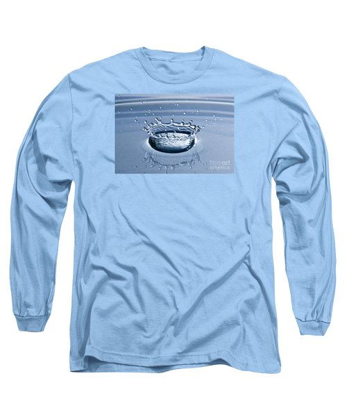 Pure Water Splash Long Sleeve T-Shirt by Anthony Sacco