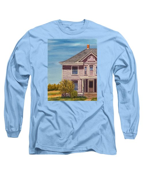 Purple House On The Prairie Long Sleeve T-Shirt by Alan Mager