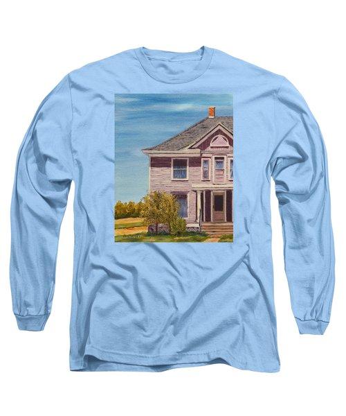 Purple House On The Prairie Long Sleeve T-Shirt