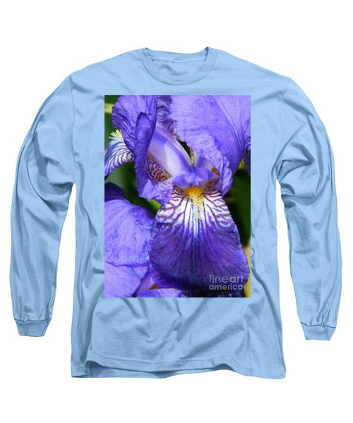 Purple Iris Long Sleeve T-Shirt by Chalet Roome-Rigdon