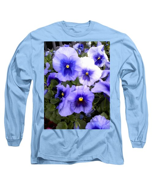 Long Sleeve T-Shirt featuring the photograph Purple Morning Glory by Fortunate Findings Shirley Dickerson